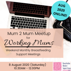 BMSG 8 AUG 2020 M2M for Working Mothers (Weekend) - ONLINE @ Online | Singapore