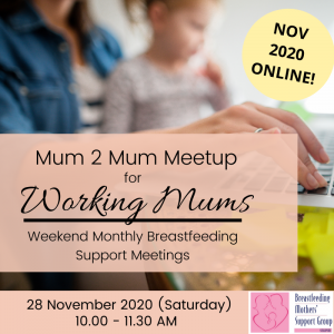 BMSG NOV 2020 M2M for Working Mothers (Weekend) - ONLINE @ Online | Singapore