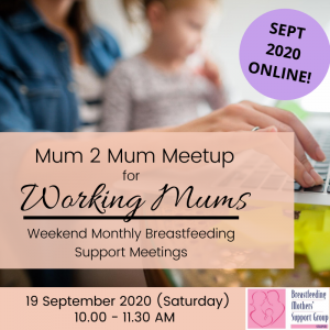 BMSG 19 SEPT 2020 M2M for Working Mothers (Weekend) - ONLINE @ Online   Singapore